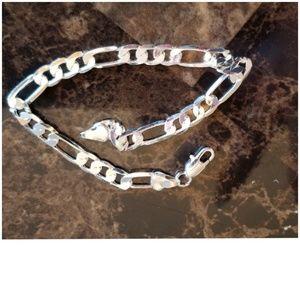 "Other - Sterling Italian Link Bracelet 8"" long"